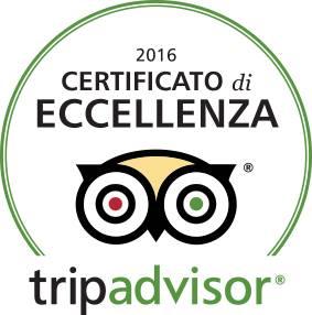 Certificato di Eccellenza Tripadvisor 2016